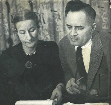 Cornelia and Bergen Evans, 1957