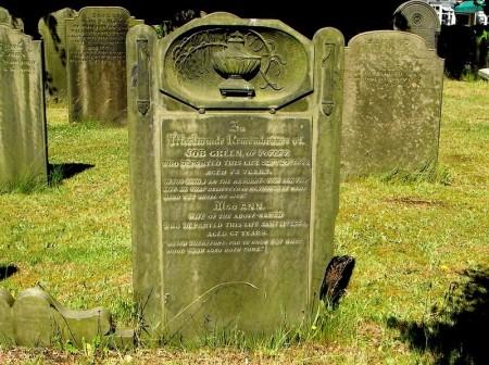 Job and Ann Green headstone, Dore Christ Church