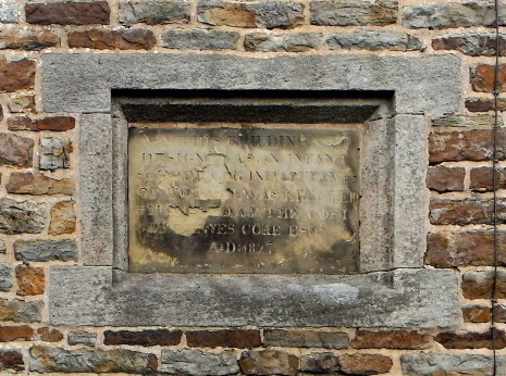 Old Infant School plaque, 1827 (original)