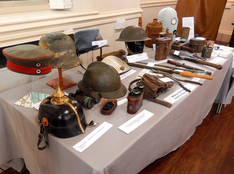 Helmets and other artifacts