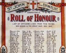 WW1 memorials and rolls of honour