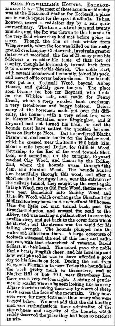 Extract from Sheffield Independent 28 December 1872