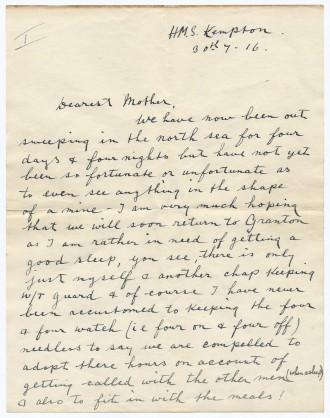 Letter D. Cymbert Ellison
