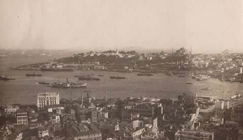 Aerial view of Constantinople, 1919