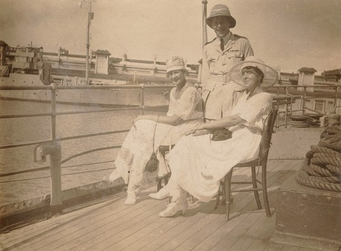 White Russian evacuees: Novorossiysk, on board H.M.S. Engadine, 1919