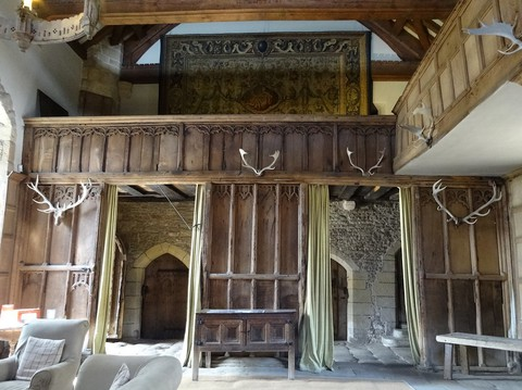 The Minstrels' Gallery, The Banqueting Hall, Haddon Hall