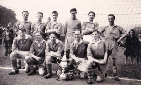 Totley Sports F.C.  Hope Valley League Challenge Cup (Lawrence Cup) Winners 1948-49.