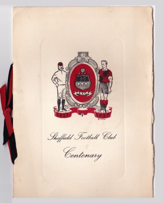 Sheffield Football Club Centenary invitation cover