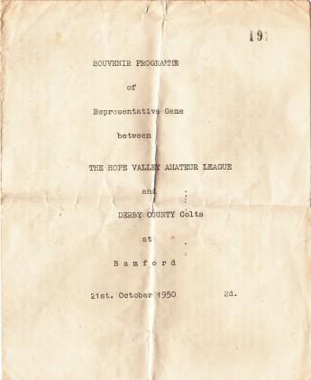 Souvenir Programme, 21 October 1950