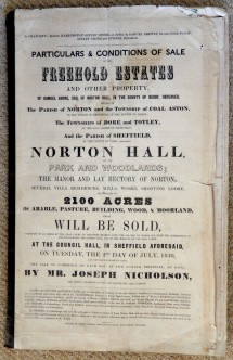 Norton Hall Estates in 1850