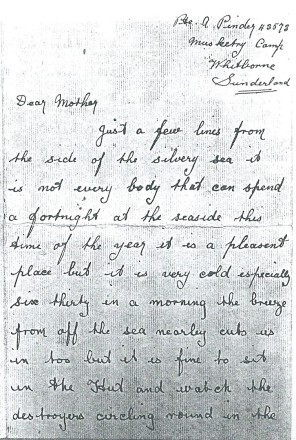 Albert Pinder's undated letter page 1