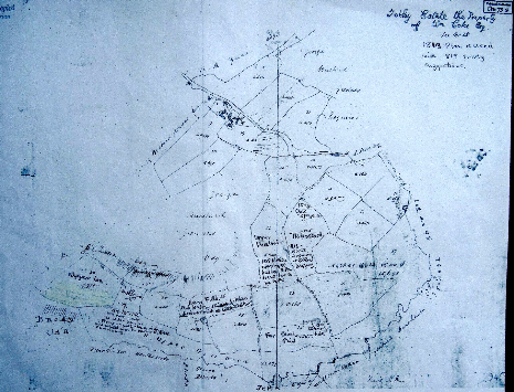 Plan 3. Fairbanks 1813 map with 1818 reports superimposed