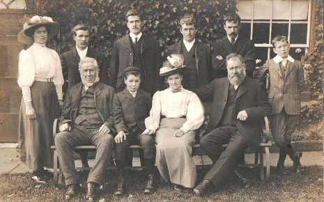 The Pearson family, who made a commercial success of running the farm at Totley.