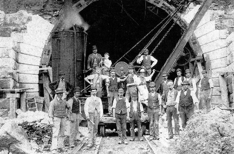 The building of the Totley Tunnel.