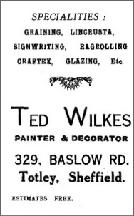 Advert from All Saints' Church Parish Magazine, 1936