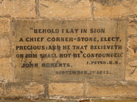 Foundation stone, Church of St. John the Evangelist, Abbeydale