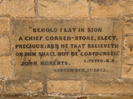 Foundation stone, Church of St. John the Evangelist, Abbeydale