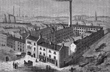 Martin, Hall & Company's Shrewsbury Works, Broad Street, Park in 1861