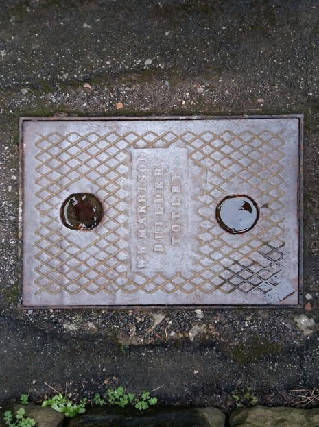 Lemont Road inspection cover by W W Marrison