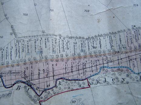 Totley Brook Estate allotment plan 1876, western part