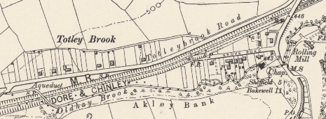Totley Brook Estate shown in the OS 6 inch map 1898, surveyed in 1896-97