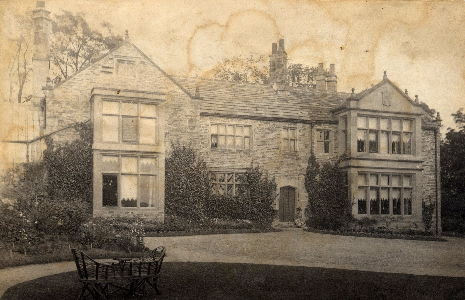Totley Hall after 1883 extension but before the Milners built the East Wing in 1892-94