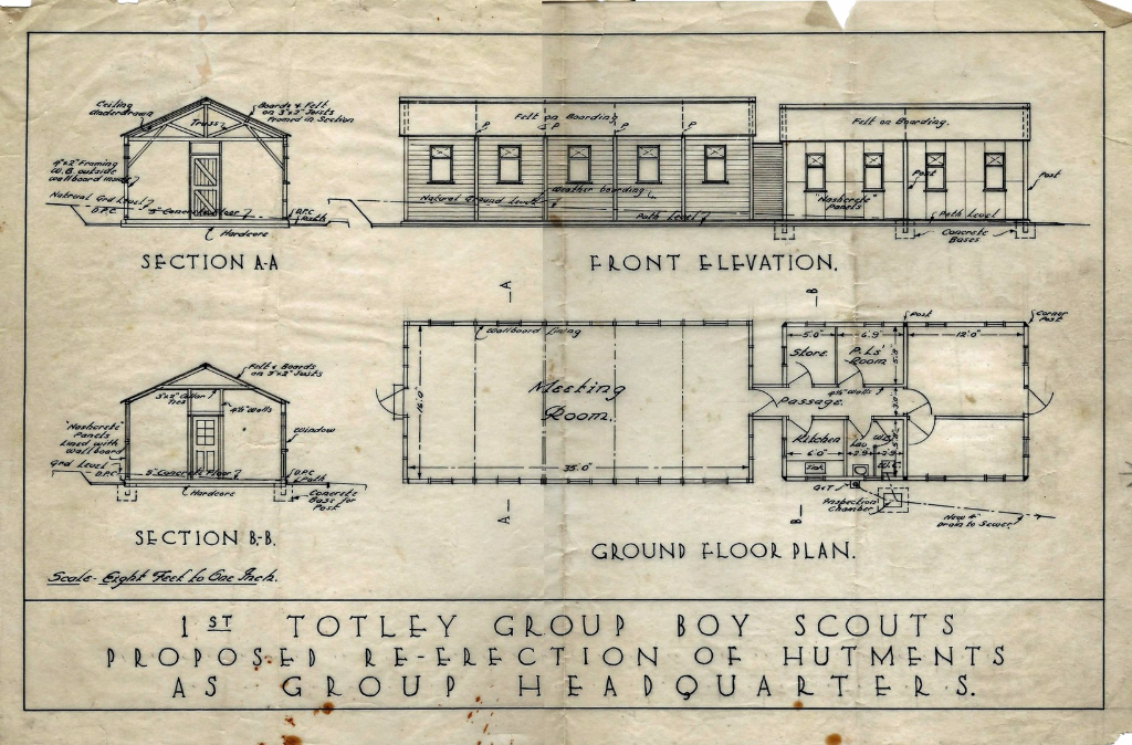 Totley Hall Lane scout hutment plan