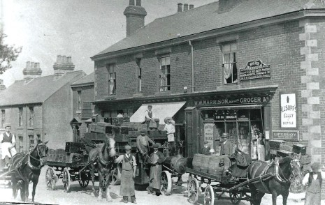 Walter Waller Marrison's shop, 71 Baslow Road, circa 1906.