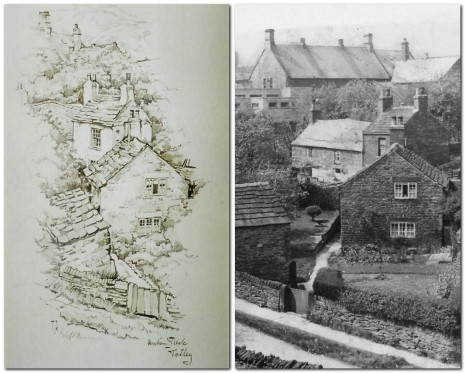 Anton Pieck's drawing and photograph taken in 1945