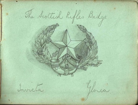 Harold Starke's autograph book drawing
