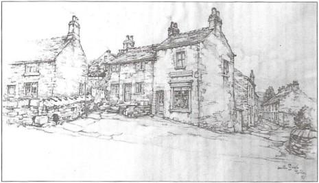 Anton Pieck's drawing of the Hillfoot Road/Summer Lane corner