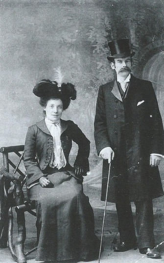 Walter Waller Marrison (1864-1908) and his wife Kate, nee Bingham (1865-1959)