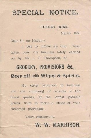 Notice of new management, March 1904
