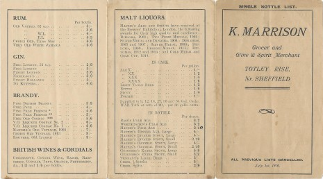 Kate Marrison Price List 1 Jul 1916 page 1