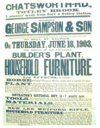 Builder' Plant Sale Notice, June 1903