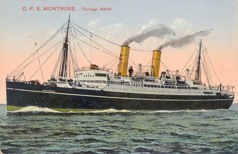 Canadian Pacific Steamship Montrose, built in 1920