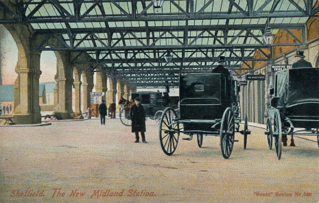 Sheffield's New Midland Station which opened in 1870.