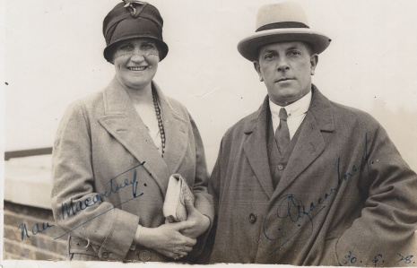 Nan and Charlie Macartney, autographed 30 May 1928