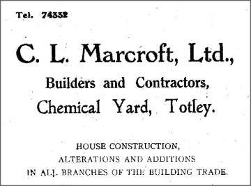 Advertisement in All Saints' Parish Church magazine, 1953