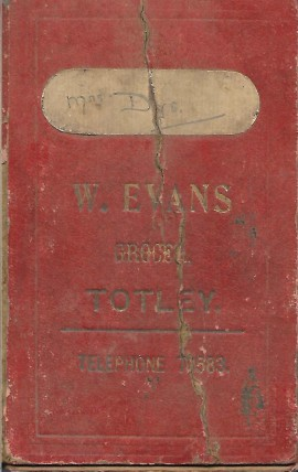 Grocery Account Book cover