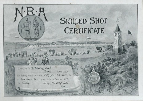 NRA Skilled Shot Certificate