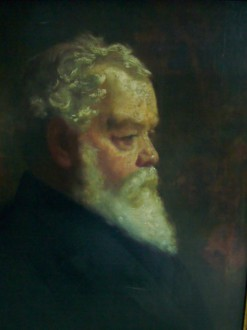 Ebenezer Hall, portrait by Joseph Herbert Bentley R.B.A.