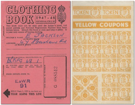 Clothing Ration Book from 1947.