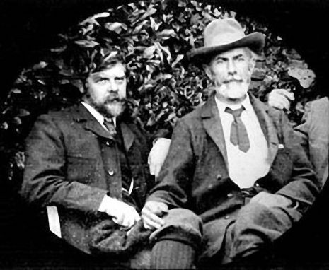 Edward Carpenter on right, with friend and razor grinder George Hukin. Carpenter lived for a while on Queen Victoria Road. Hukin later lived next door to the young Harry Brearley (inventor of stainless steel) on Mickley Lane