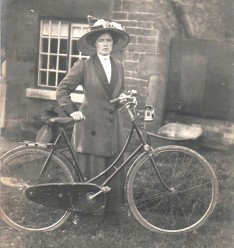 Lucy Pearson, George's daughter. She was in the socialist Clarion Cyclists Club
