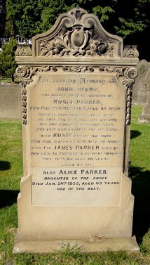 Parker Family gravestone, Christ Church