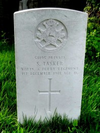 Saville Tasker grave, Dore Christ Church