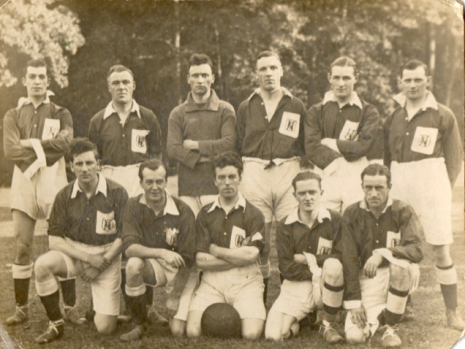 Charles Tasker, front row, extreme right