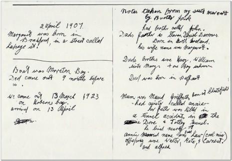 Jack Burrows' handwritten note