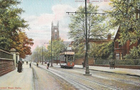 London Road and Holy Trinity Church, Derby